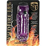 SAFETY TECHNOLOGY Wildfire 1/2 ounce with rhinestone purple leatherette holster and key ring