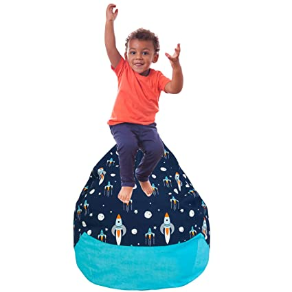 Prime Yayme Blue Spaceship Rocket In Space Boys Stuffed Animal Storage Beanbag Cover Extra Large Size 41 Child Bean Bag Cover Quality Fabric Cute Andrewgaddart Wooden Chair Designs For Living Room Andrewgaddartcom