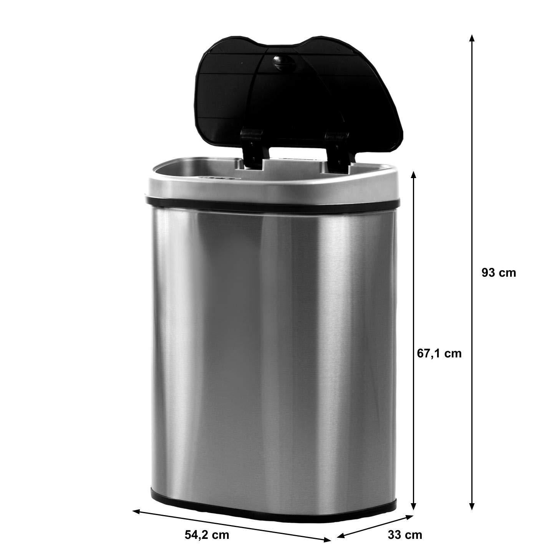 Hochwertiger Edelstahl 70 Liter Homra Luxus M/ülltrennsysteme Abfalleimer mit Sensor Automatische M/ülltrenner M/ülleimer mit Bewegungssensor