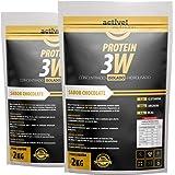 whey protein isolado concentrado hidrolisado 3w 4kg vários sabores