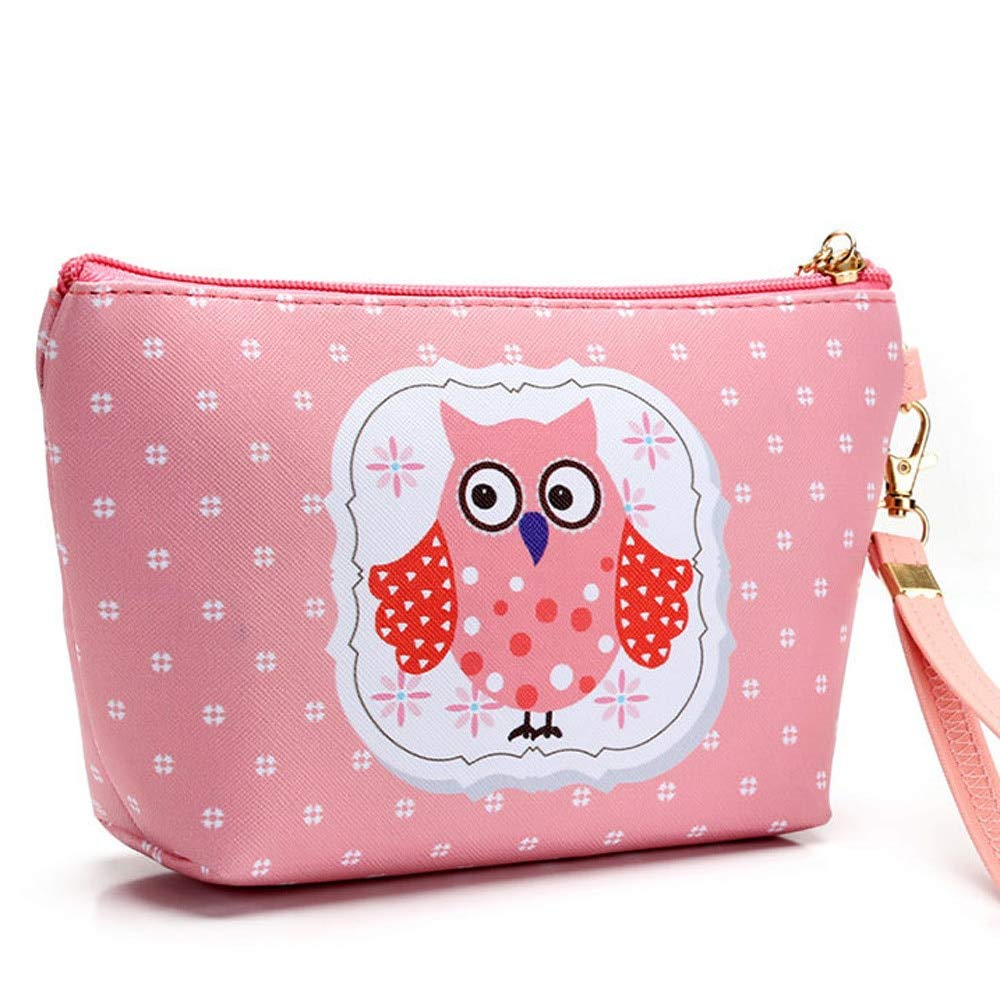 Amazon.com: Kawaii Owl Printing Organizer Bag Nesesser Travel Woman ...