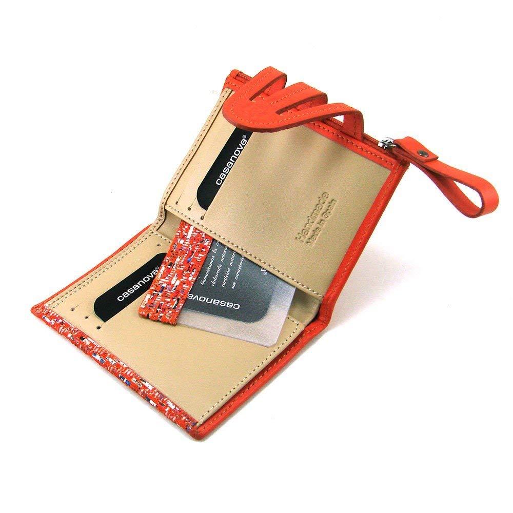 Cartera para mujer, hecho a mano en España, marca casanova, ideal para regalo, Ref. 23812 Naranja: Amazon.es: Handmade
