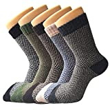 Womens Thick Knit Casual Wool Crew Winter Socks