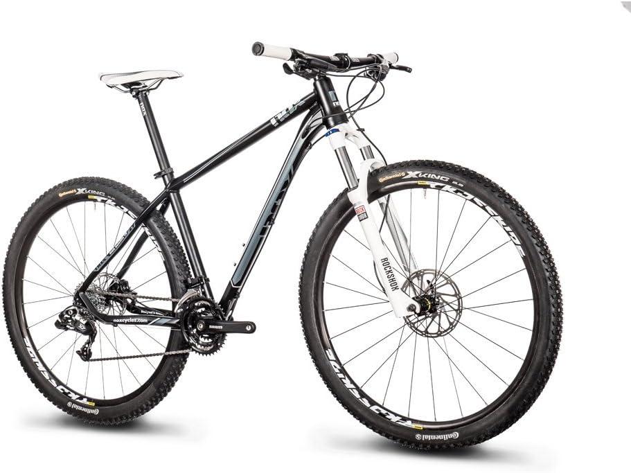 NOX ciclos Bicicleta Satellite TN Comp para Bicicleta de montaña Unisex con SRAM X7 desviador Trasero 9 Velocidad y Mavic Crossride FTS Intl 29 Ruedas, Negro: Amazon.es: Deportes y aire libre