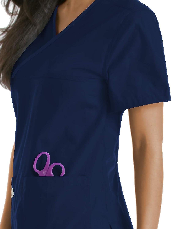 Urbane Scrubs 9534 Womens Double Pocket Crossover Top