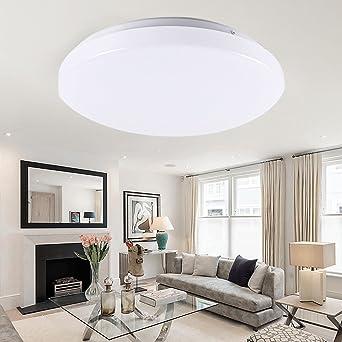 4000k Badleuchte Wohnzimmerlampe Deckenbeleuchtung Led Wohnzimmer Deckenlampe Deckenleuchte Neutralweiß Deckenstrahler Beleuchtung Rund 15w iTXwPulOkZ