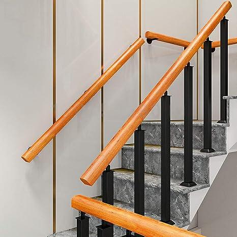 Antideslizante Pasamanos de Escalera de Madera Antideslizante, pasamanos de barandas para Ancianos Barra de Soporte del Pasillo, para niños/Ancianos/discapacitados/Mujeres Embarazadas Trabajo: Amazon.es: Hogar