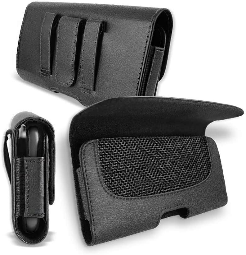 for Apple iPhone 8 / Iphone8 Pouch Case, T MAN [ XL Size] [Belt Holster] Sideways Leather Holster Carry Pouch Case for Apple iPhone 8 / iphone8 (Fits The Phone with Thick Protective Cover on)