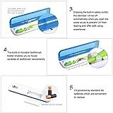 Portable UV Toothbrush Sterilizer Cleaner Organizer