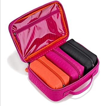 7591abecd678 Image Unavailable. Image not available for. Color  Victoria s Secret Four  Piece Jetsetter Travel Case Cosmetic ...