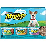 Cheap Purina Mighty Dog Ground Wet Dog Food Variety Pack – (2 Packs of 12) 5.5 oz. Cans