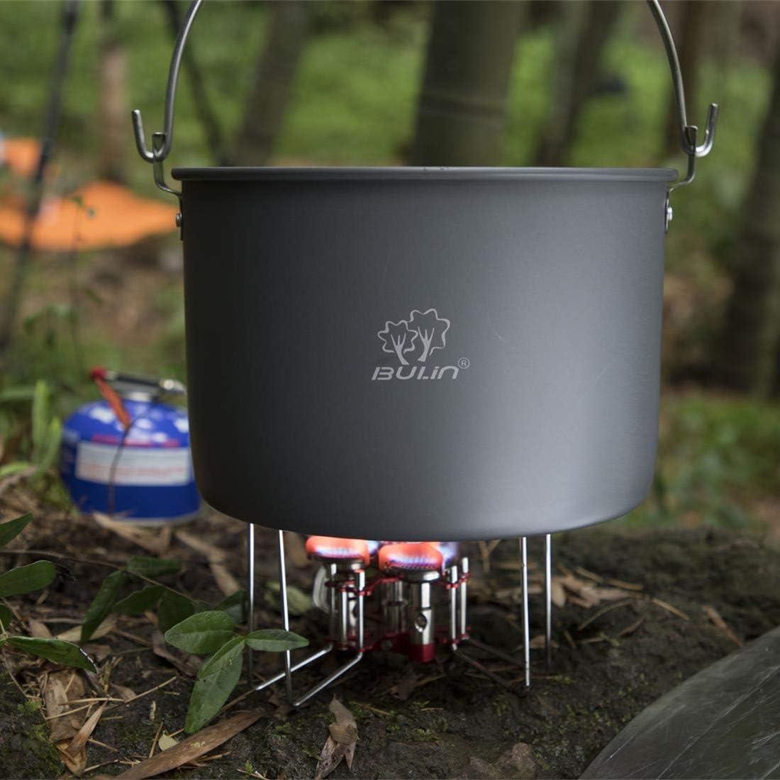 Bulin - Hornillo de Gas Plegable, hornillo de Gas para Camping, Trekking, pícnic, Exterior, 5800 W, 3500 W y 3200 W