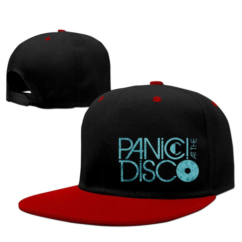 61012f0dcdc Unisex Adjustable Mens Womens Hats Funny Panic at The Disco Snapback  Flatbrim Sun Hats Hip Hop ...