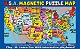 Ata-Boy Magnetic USA Map Play-n-Learn Puzzle Board