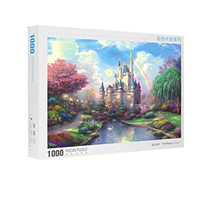 Puzzles for Adult and Kids - Dream Castle - 1000 Piece Jigsaw Puzzle - Large 27.56 x 19.69inch Puzzle - Every Piece is Unique,Pieces Fit Together Perfectly - by Smallrabbit: Toys & Games
