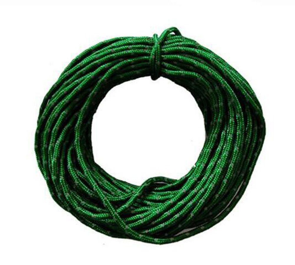 ASTRQLE 1 roll 15M//50ft Nylon Outdoor Safety Climbing Abseiling Cord Equipment Rescue Parachute Clothesline Multi-purpose Tent Rope Dark green