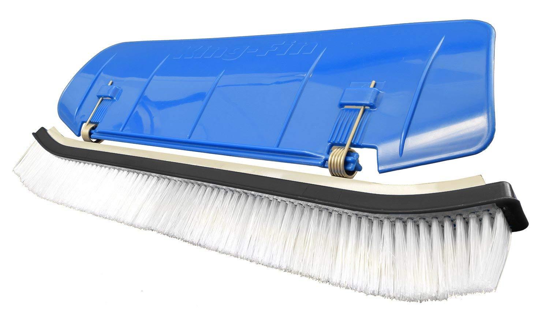 Blue Devil B3516KFAMZ King FIN Brush W/Nylon Bristle, Bagged, Blue by Blue Devil