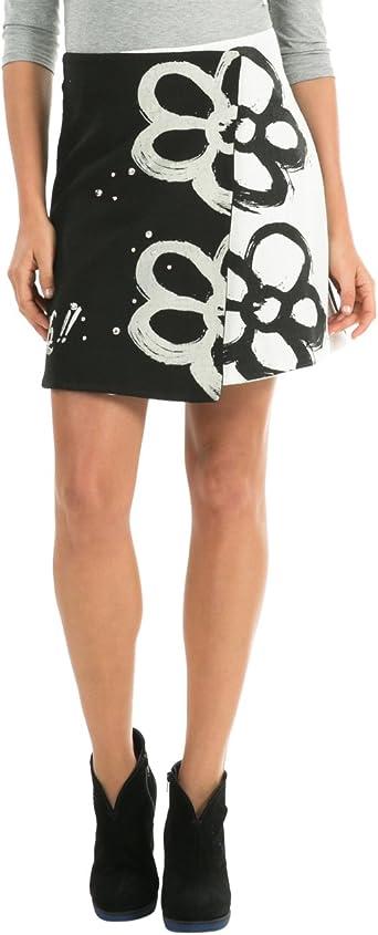 Desigual Iltro Falda, Negro, 34 para Mujer: Amazon.es: Ropa y ...