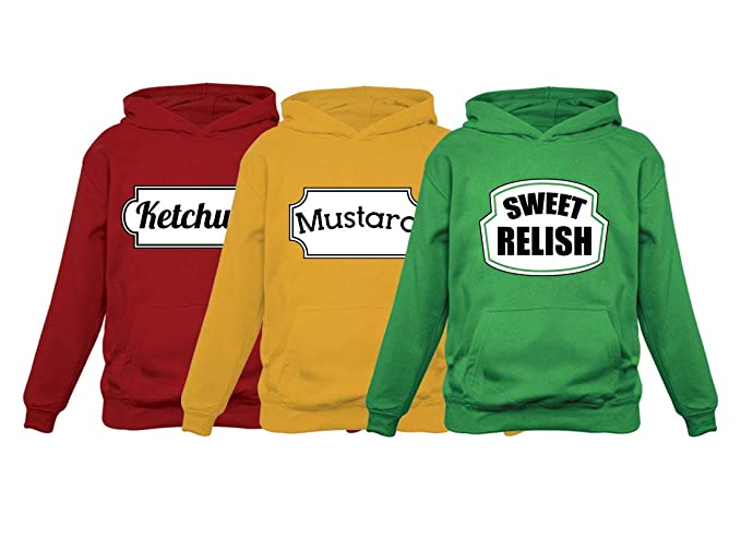 Sweet Hoodies Halloween Red amp; Group Ketchup Relish Set Matching Mustard Large Easy Costume pwFnxO