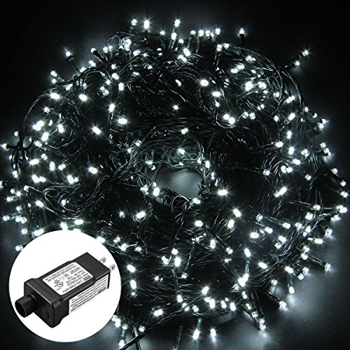Excelvan Safe Low Voltage 500 LEDs 100M/328FT Fairy String Lights with 8 Modes for Bedroom Patio Party Wedding Christmas Decoration, Cool White