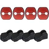 汎用 日産 Nissanニッサン ドアストライカー カバー ストライカー カバー ドアストッパー カバー 保護カバー 赤 高輝度 反射 防止老化 防水(8個)