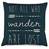 Decorbox Quotes with Arrow Throw Pillow Covers Decorative Polyester Cushion Cover 16 x 16 Inches