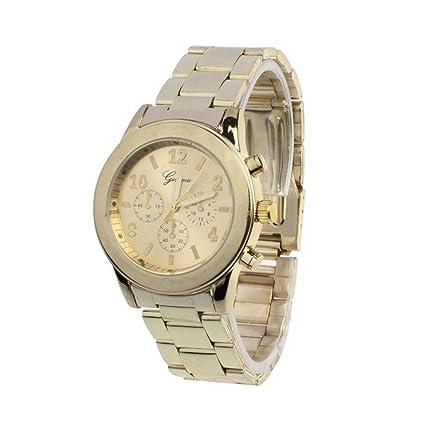 Vovotrade® Clásico de Lujo Mujer Damas Chica Unisex Reloj de Pulsera de Cuarzo de Acero