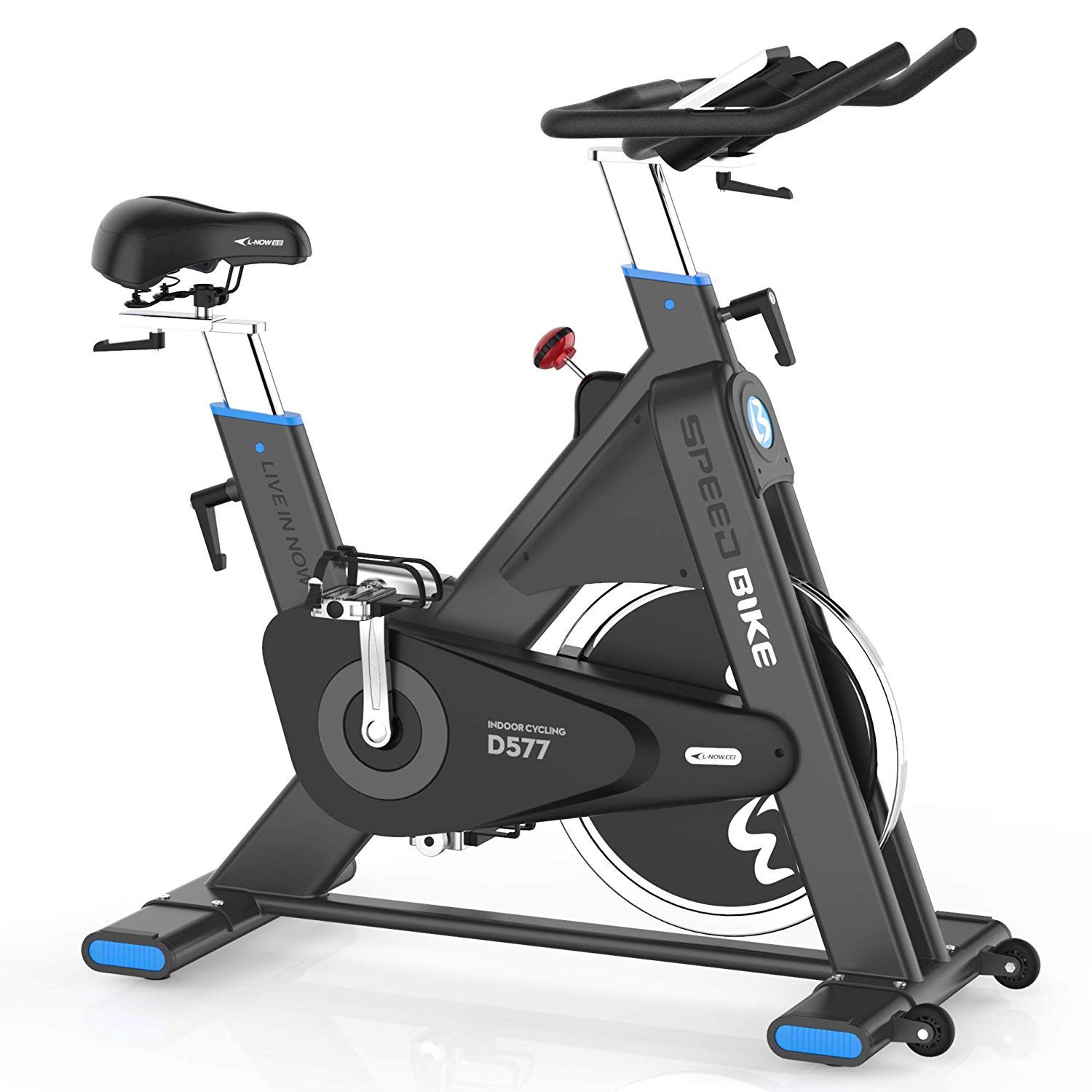 Drive Exercise Bike Stationary, Indoor Cycling Bike Trainer High Weight Capacity, Heavy Duty Flywheel with Commercial Standard
