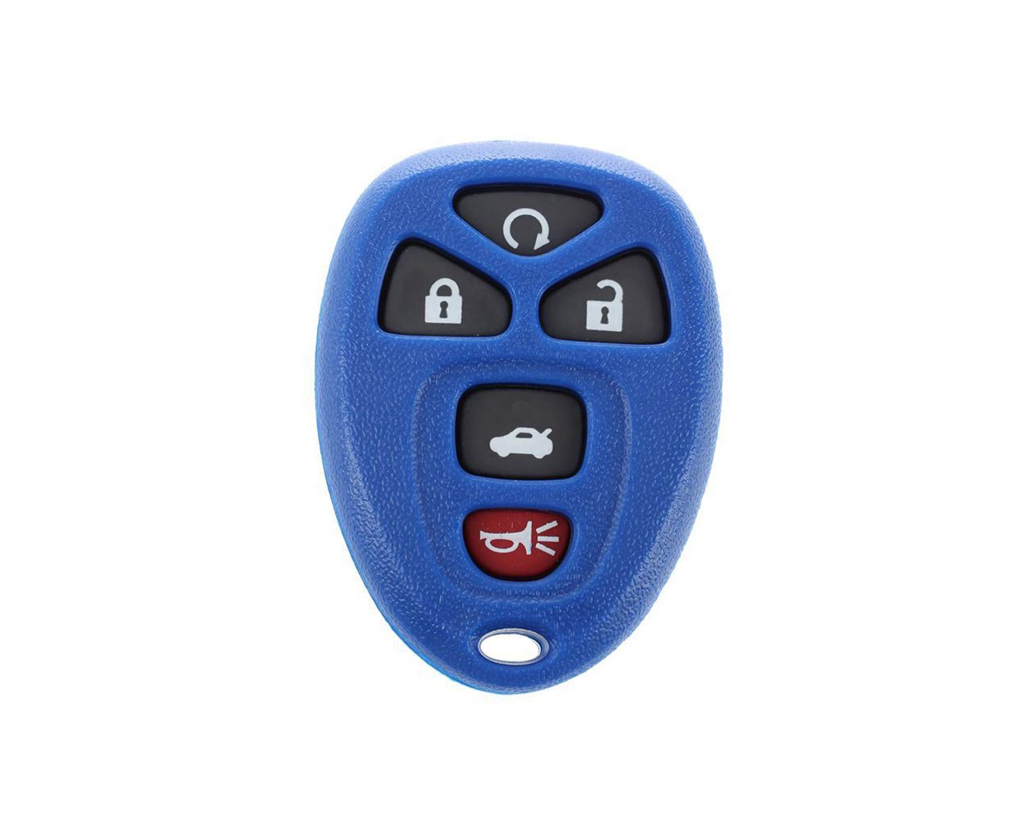CanadaAutomotiveSupply /© 1 New Replacement BLUE Keyless Entry 5 Button SHELL Remote Start Car Key Fob for Select Chevrolet Buick Saturn 22733524 Pontiac