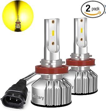 Pair H4 LED Bulb Xenon Hi//Lo 72W 9000LM Headlight Conversion Kit Fog Lamp 6500K
