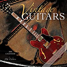 Vintage Guitars 2018 12 x 12 Inch Monthly Square Wall Calendar