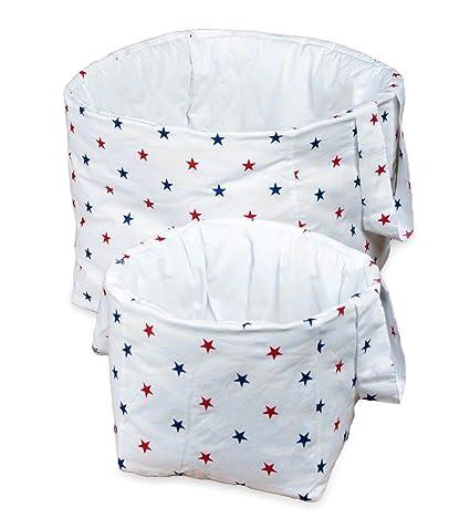 Vizaro - Cesta acolchada grande y pequeña para habitación de bebé | infantil - Pack 2