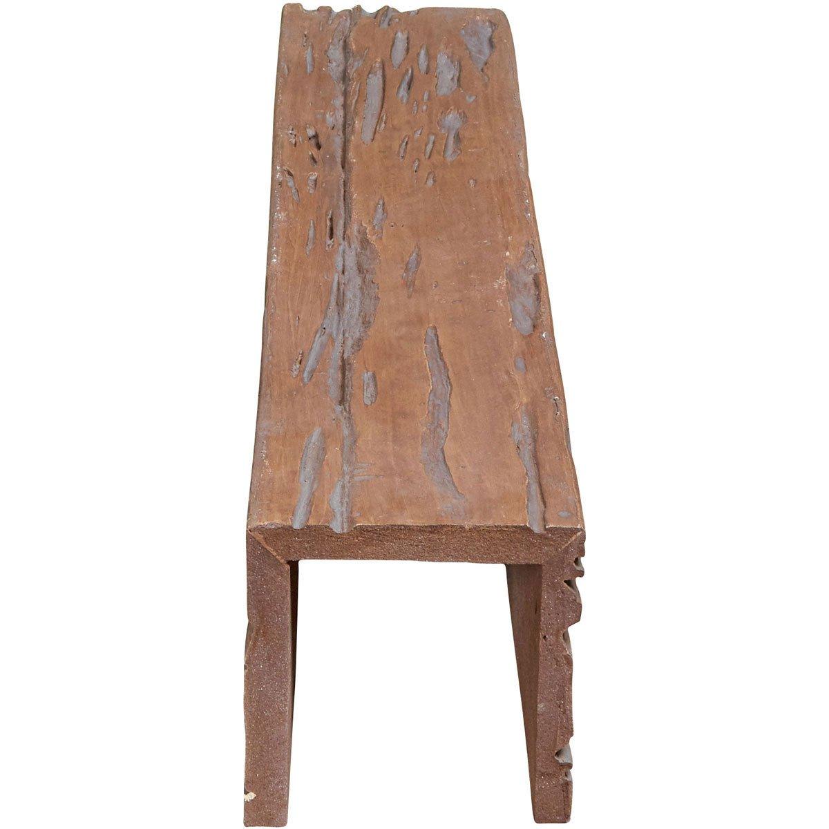 Ekena Millwork BMPC3C0080X060X120PE 8 W x 6 H x 10L 3-Sided U Pecky Cypress Endurathane Faux Wood Ceiling Beam, Pecan, x x