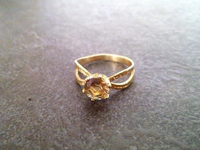 Ammered Smoky Quartz Ringbrown Topaz Ringgold Gemstone Ringgift Ringbirthday Giftgirlfriend Giftunique Giftsstone Ring Amazoncouk Handmade
