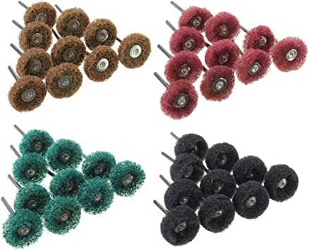40Pcs Abrasive Brush Wheels Polishing Wheel Buffing Fiber Mixed Set Buffer Kits