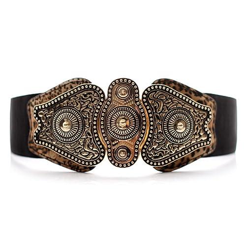 Cintura Lady Joker Cintura retrò Tratto elastico in vita-A