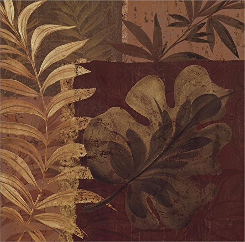 Tropical Foliage I by Pamela Gladding Double Sided Laminate, 20 x 20 inches (Pamela Gladding Tropical Foliage)
