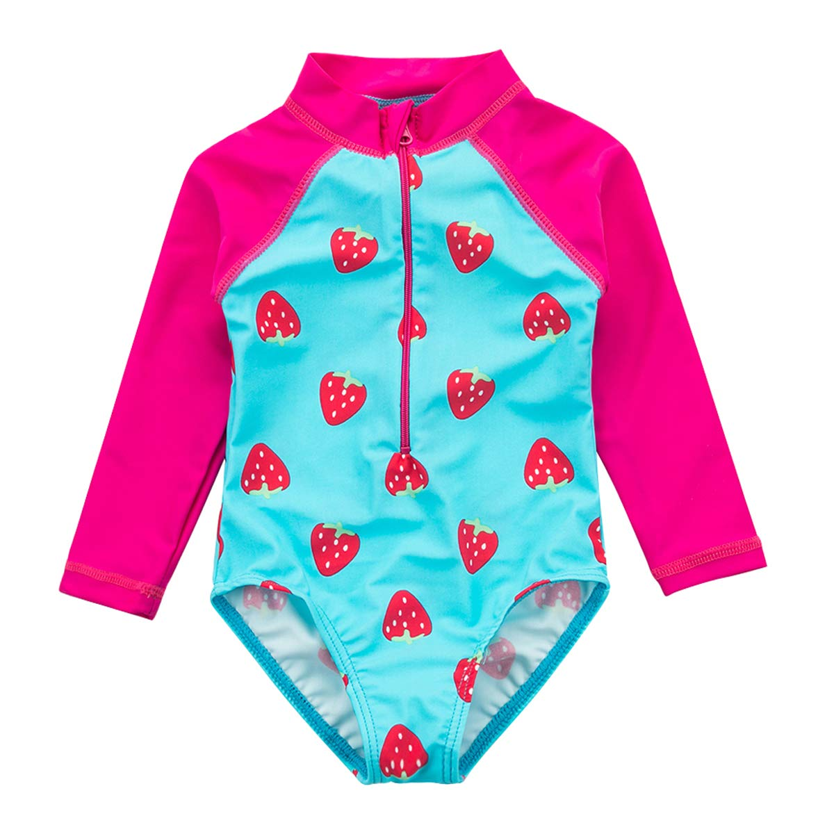 Wishere Baby Girl Sunsuit One-Piece Swimsuit Rash Guard Swimwear