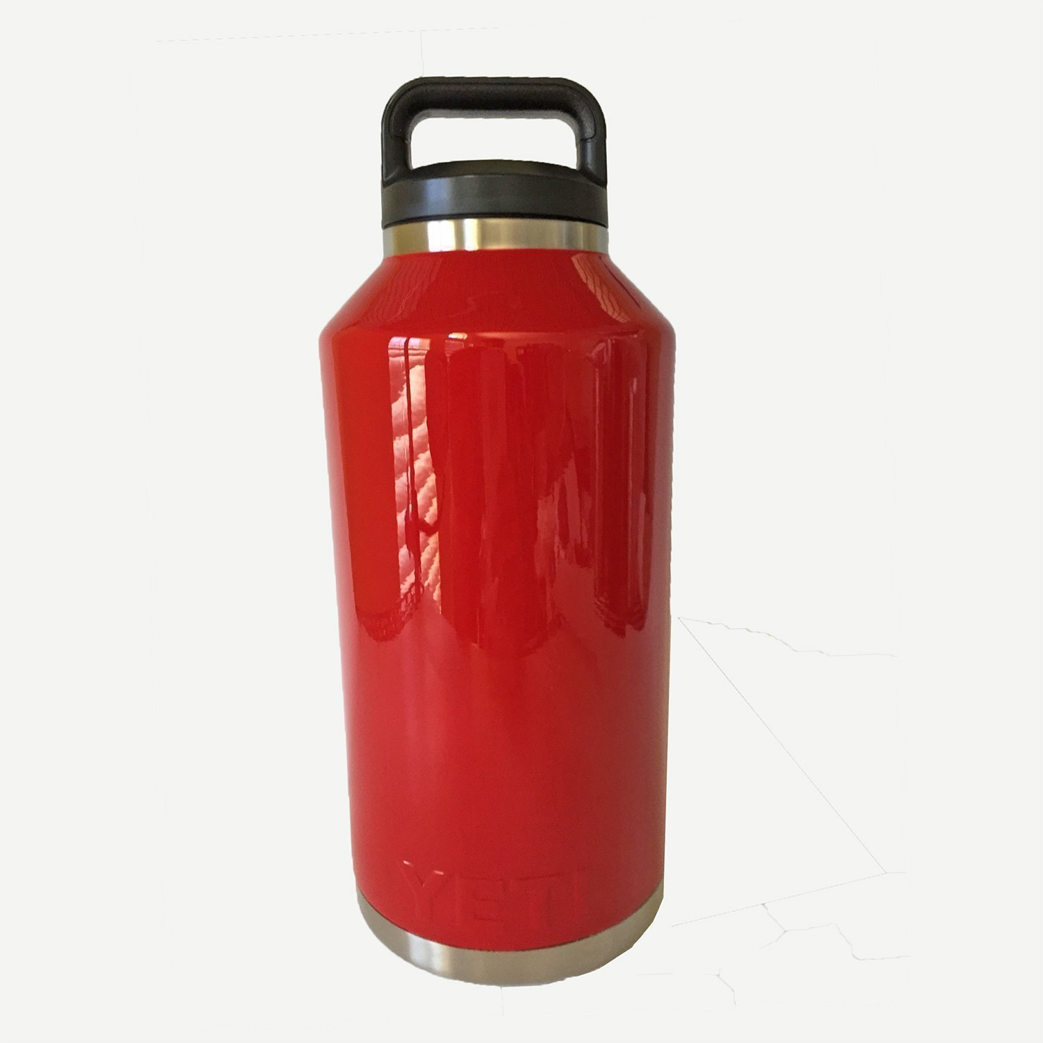 Water Bottle powder coated in Truly Red with optional engraving available