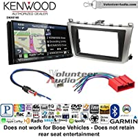 Volunteer Audio Kenwood DNX874S Double Din Radio Install Kit with GPS Navigation Apple CarPlay Android Auto Fits 2009-2013 Mazda 6