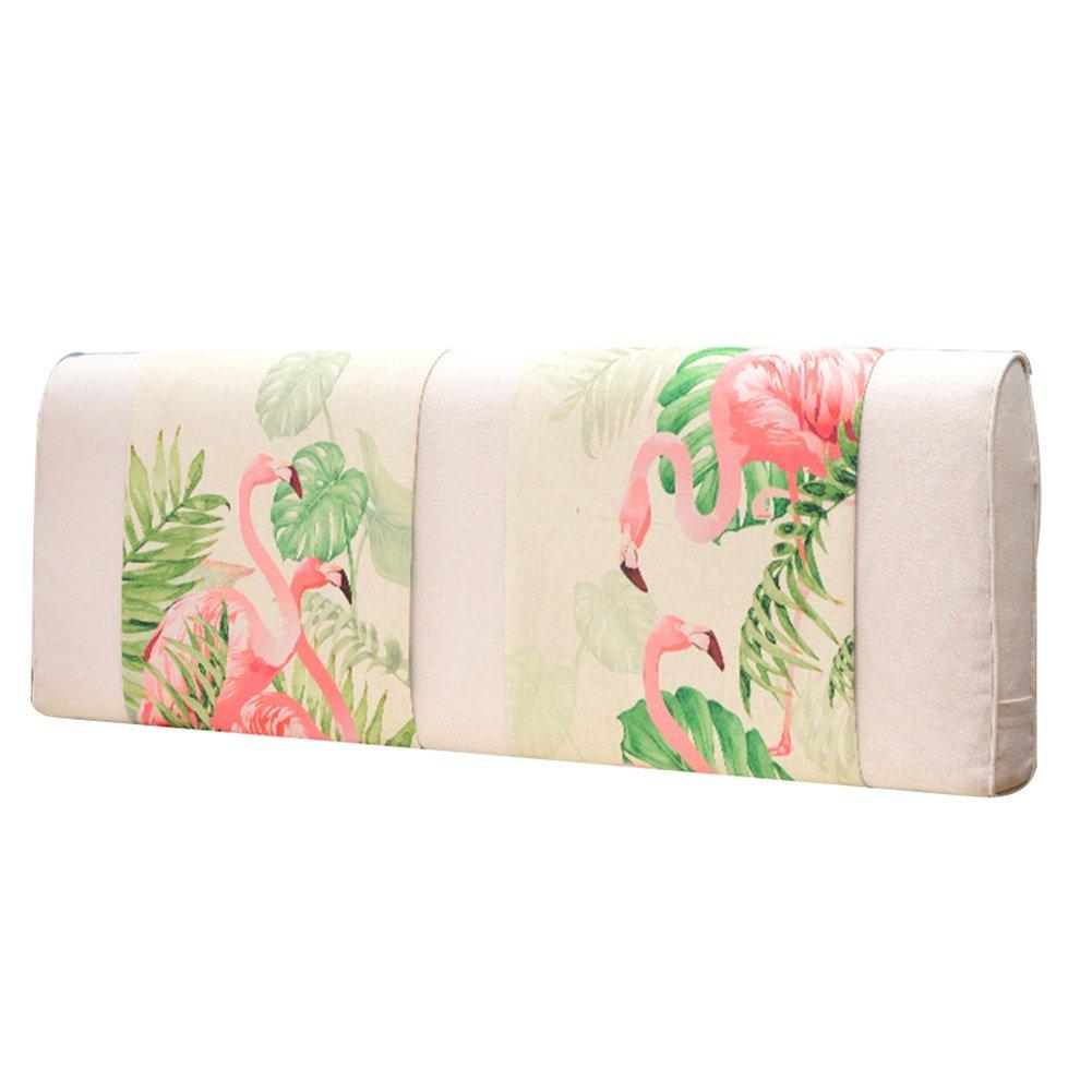 GXY Bettseitige Softpack Doppel Tatami Cartoon Stoff Nordic Bett Kopfkissen Kissen Große Rückenpolster Abnehmbar Und Waschbar Kissen (Farbe : 5#, größe : 200x10x58cm)