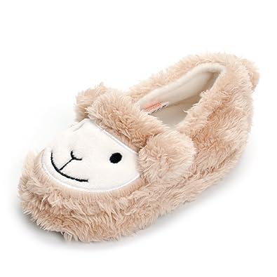 65bab6afd45 ESTAMICO Baby Toddler Girls Warm Fleece Slippers Cute Cartoon Winter Soft  Cozy Non-Slip Plush