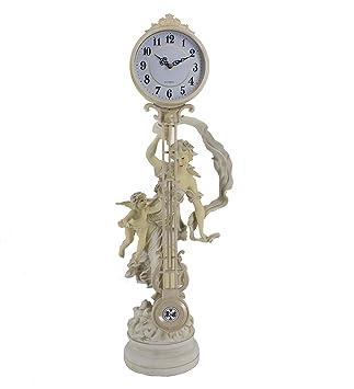 Antik Uhr Tisch Maidens Mascarello Cherub 74 Skulpturale Swing Modernen Cm Hoch Quarz Kaminuhr LpzGSUVqM