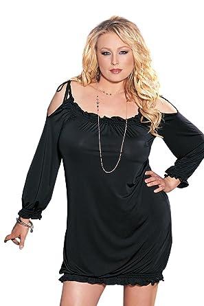 Amazon Plus Size Dress Off Shoulder Knit Black3x 4x Clothing