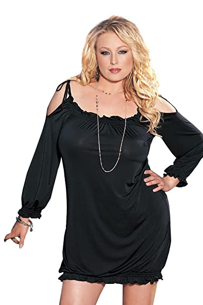 Shirley of Hollywood Plus Size Off The Shoulder Mini Dress