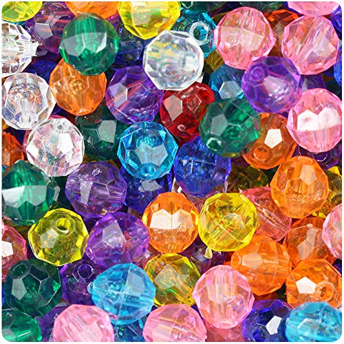 Transparent Faceted Beads - 5