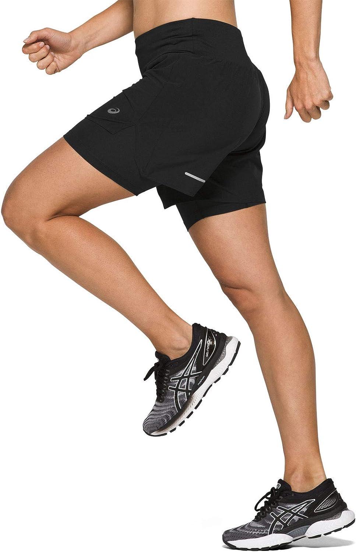ASICS Road 2 n 1 5.5in Short, Pantalone Corto Donna: Amazon