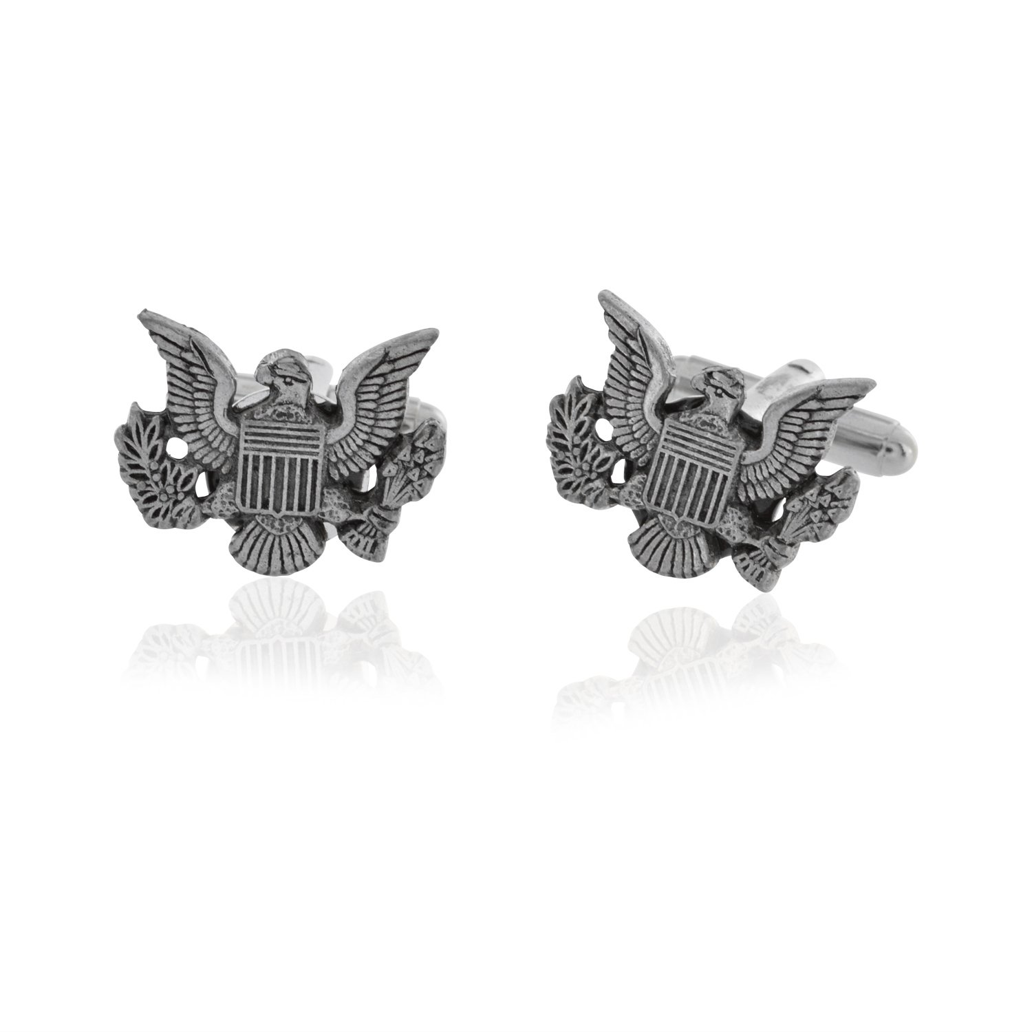 Pewter United States US Coat of Arms Cufflinks
