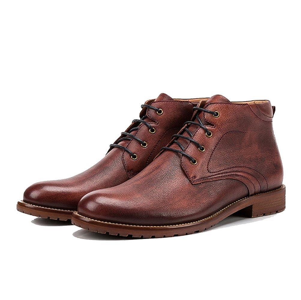 ZPJSZ Männer England Vier Jahreszeiten Lässig Martin Stiefel Mode England Männer Weinlese Jugend Lederstiefel 0ad1b4