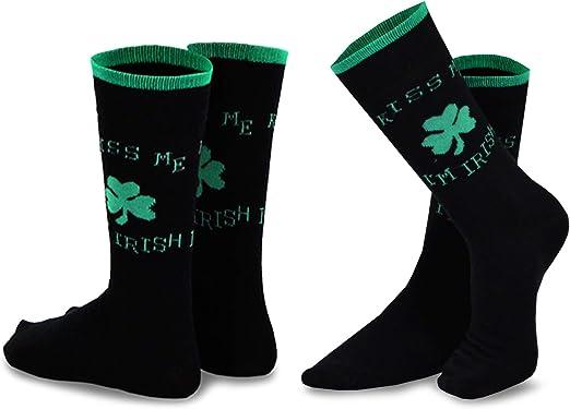 TeeHee St Patricks Day Woman and Man Couple  Crew Socks 2pk Argyle